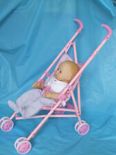 Umbrella Stroller for Doll New Doll Strollers W/Fabric Seat