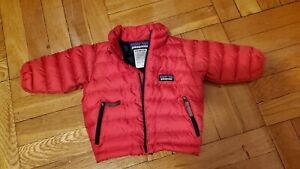 Patagonia Baby Down Puffer  Sweater Jacket  Red  3-6 months
