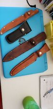 Lot of 4 Natural Leather Knife Sheaths