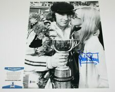 JACKIE STEWART FORMULA 1 LEGEND HAND SIGNED 11x14 PHOTO 2 BECKETT BAS COA PROOF