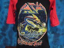vintage 80s ASIA TOUR JERSEY T-Shirt SMALL rock metal dragon concert raglan thin
