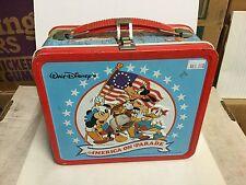 Walt Disney America on Parade rare metal lunch box 1970s