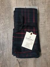 NEW w/ tags Hearth & Hand Napkin Set 4 Plaid - Red/Blue