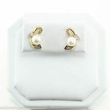 Orecchini con diamanti Perle Diamante Naturale