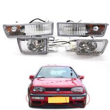 Front Bumper Clear VR6 Fog Lamp Signal Lights for VW Jetta Golf MK3 93-98