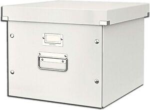 Leitz Suspension File Box, A4, Click and Store Range 60460001 - White