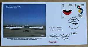 CONCORDE JFK AIRPORT NEW YORK.  2004 COVER SIGNED BY CAPTAINS MEADOWS & DIXON