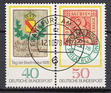 BRD 1978 MER. n. 980-981 ZD timbrato Francoforte sul Meno, con top gomma (15150)