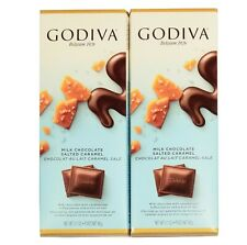 Godiva Milk chocolate and salted caramel bars Set of 2 Only shipping to the US