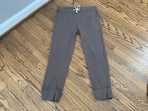 James Perse - Linen Blend Cuffed Pull On Pants in Green - Size 1 Small