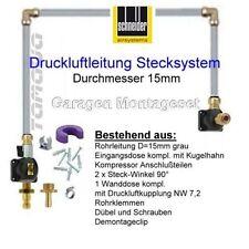 Druckluftleitung Garagen-Set grau 10mtr lang Selbstmontage