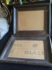 New ListingArts & Crafts Craftsman Twisted Rope Wood Art Photograph Frames 2Pc Lot W/Glass