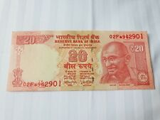 INDIA 20 Rupees 2018 P103 Letter L Replacement Star Note 02F* UNC Banknote