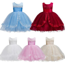 Flower Girl Princess Dress Kids Birthday Party Wedding Pageant Tutu Formal Gown