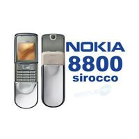 TELEFONO CELLULARE NOKIA 8800 SIROCCO SILVER ARGENTO GSM LUXURY PHONE NUOVO-