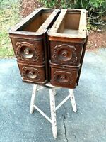 4  Antique Treadle Sewing Machine Drawers with Frames