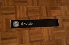 New York City Subway S Shuttle Train Sign Times Sq Transit Redbird Rollsign NYC