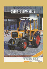 FENDT Farmer 250 K 250 V 260 V Kommunal Schlepper Original 1990