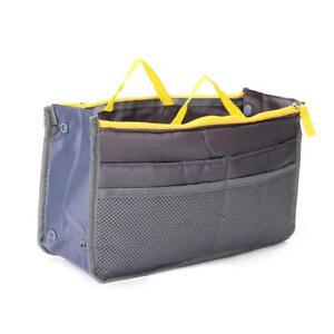 QUALITY Handbag Organizer Insert Large For Women Lady Tote Bag Tidy Multi Pocket