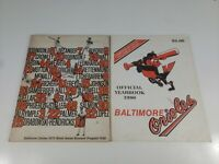 1970 Baltimore Orioles World Series Souvenir Program plus 1980 yearbook