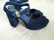 Size 4 Topshop Black Suede Party Heels