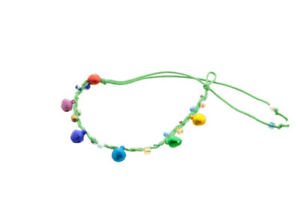 Bracelet Brazilian Friendship Thread Braided With Bells Lucky Charm Green 8125
