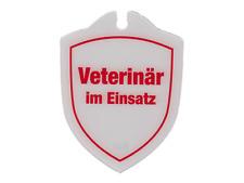 Wappenschild Veterinär im Einsatz