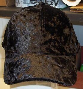 NWT Hat Cap David & Young NY Velour Velvet Baseball Style Black Unisex