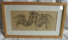 horse study ink and pen drawing by western artist Penny  onstott