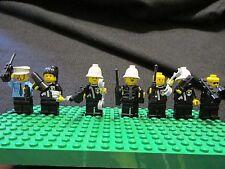 Lot of 7 LEGO Mini Figure Police + Accessories - Replacement Policemen Guard