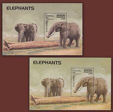 1997 LAOS Bloc N°139** les 2 Bf ELEPHANTS NORMAL + VARIETE (Error) MNH