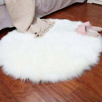 Nachahmung Schaffell Teppich 30 × 30cm Teppich weichen flauschigen langen H K9A4