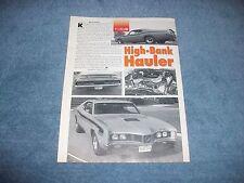 "1971 Mercury Cyclone Spoiler Vintage Article ""High-Bank Hauler"""