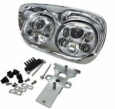 """Chrome 5-3/4"""" LED Headlight Projector Daymaker Lamp For Harley Road Glide 98-13"""