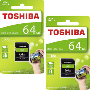 Toshiba 64GB Micro SD Class 10 UHS-I U1 SDHC HD 100MB/s Memory Card UK Stock