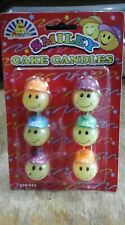 6 Smiley Face Birthday / Celebration Cake Candles New