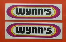 "WYNNS Racing Classic oil STICKERS 8"" Pair F1 decals"