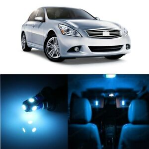11 x Ice Blue LED Interior Light Package For 2011 - 2012 Infiniti G25 + PRY TOOL