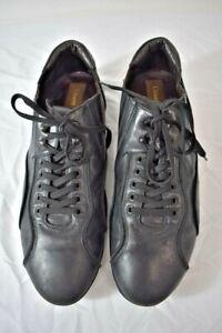 Cesare Paciotti Black Leather Men's Oxford Shoes Size 8M On Sale kp