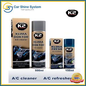 K2 KLIMA DOKTOR & Air Con Bomb FRESH Conditioning Cleaner Foam A/C Odor Remover