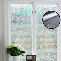 100x45cm Self Adhesive Glass Mosaic Sticker Mini Square Mirror Tiles Sheet DIY