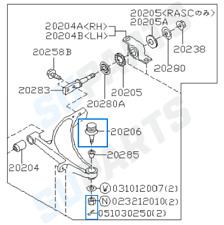 Front Lower Bottom Ball Joint Fits: Subaru Impreza WRX STi 1992-2007