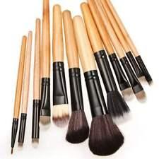 8pcs Make Up Bobbi Brushes Set With Soft Bag Case Beauty Eye Shadow Brown Kit