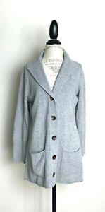 Eileen Fisher Merino Wool Cashmere Shawl Collar Cardigan Sweater L Petite EUC