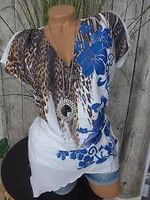 sheego Blouse Tunic Size 40- 58 Short Sleeve Soft Falling (893) Mullet