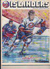 New York Islanders Montreal Canadiens 1972 Program Lemaire hat trick + Tickets