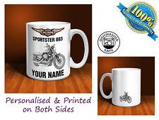 Harley Davidson Sportster 883 Motorbike Personalised Ceramic Mug Gift (MB085)