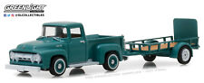 1:64 GreenLight *HITCH & TOW 13 Green 1954 Ford F-100 Pickup w/UTILITY TRAILER