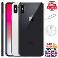 Apple Iphone X (10) 64GB 256GB Space Grey Silver Unlocked Sim Free Smartphones