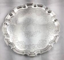 "Barker Ellis Silver Plate Round 9 3/4"" Tray"